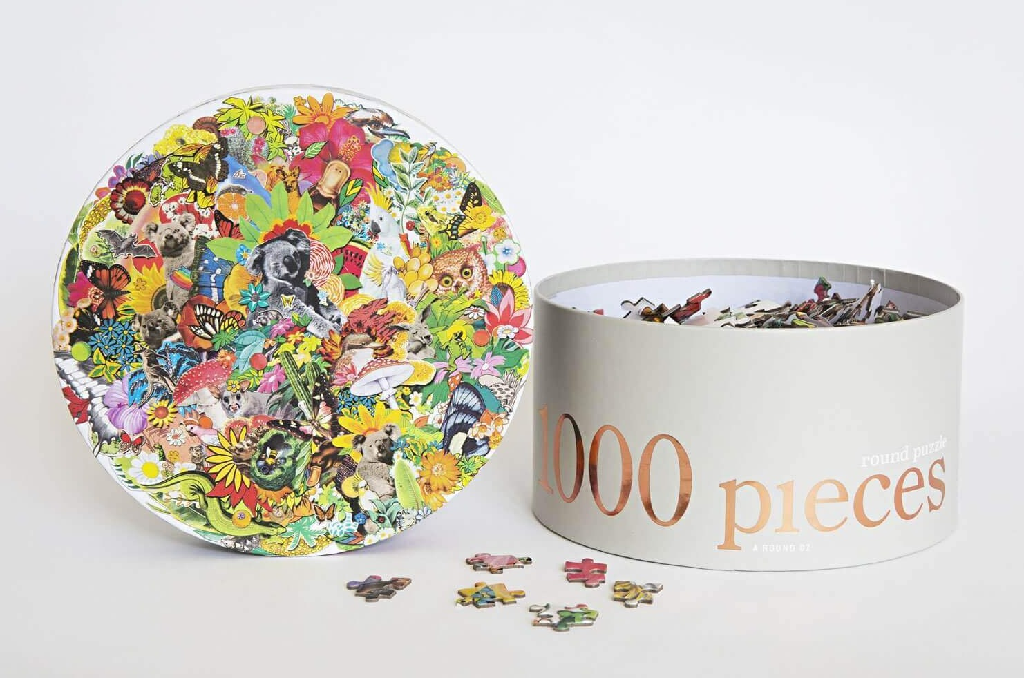 journey of something 1000 piece round jigsaw puzzle all around oz box  |The Home Maven