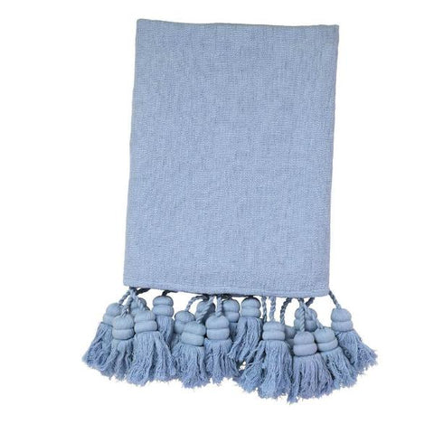 Kip and co oversized chambray tassel throw  | $269 | The Home Maven