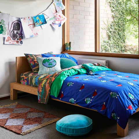 Kip and co dino earth fitted sheet pillowcase set | The Home Maven