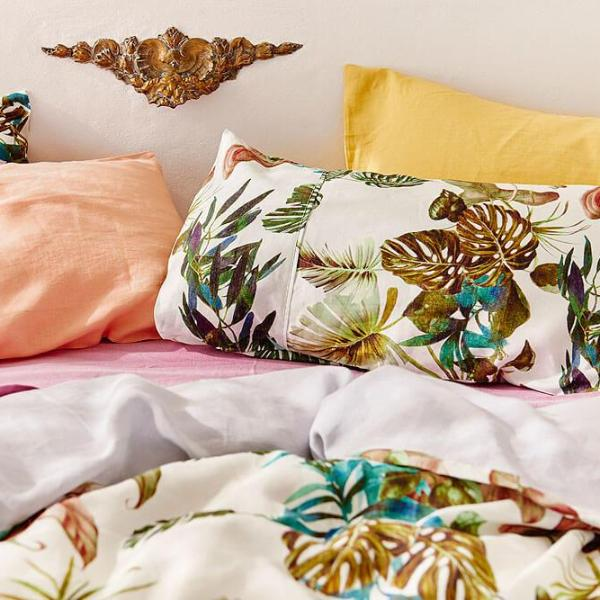 Foliage French linen 2P pillowcase Set | $99 | The Home Maven