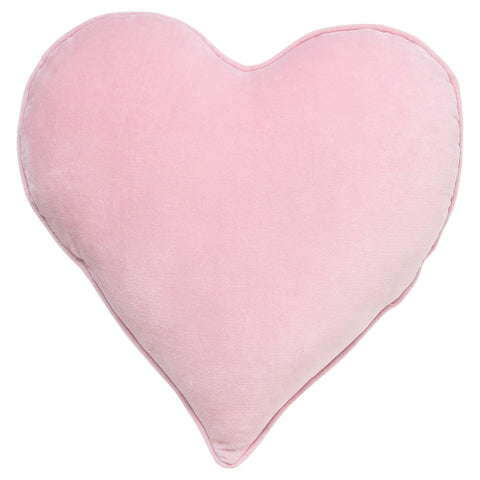 Kip and co guava pink velvet heart cushion | The Home Maven
