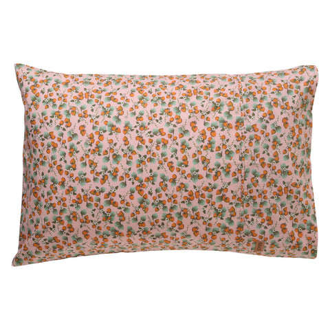 The patch peach cotton pillowcase | My House Loves