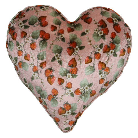 Kip and co patch velvet heart cushion | The Home Maven