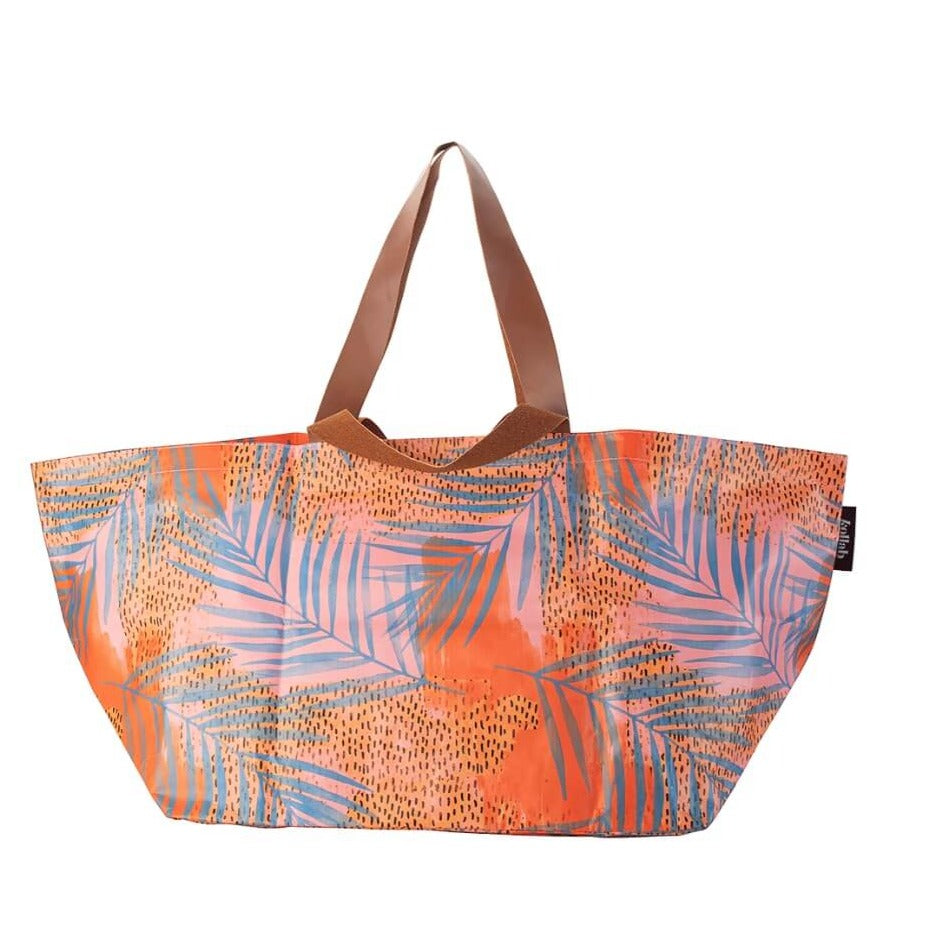 Kollab beach bag blue palm | The Home Maven