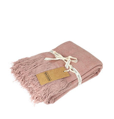 mushroom pink jute throw | The Home Maven