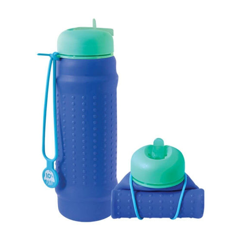 rolla bottle cobalt teal lid aqua strap tall rolled |The-home-maven