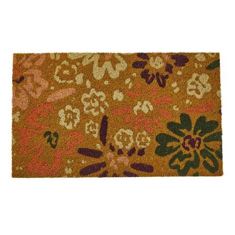 Sage and Clare Heidi Jute Door Mat Floral Design |The Home Maven