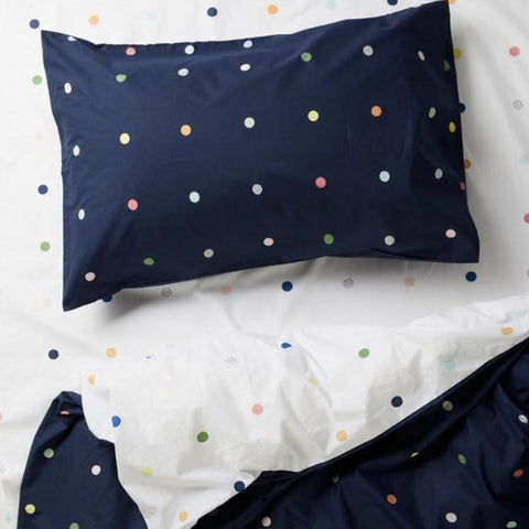 more than ever white spots and dots night sky pillowcase | The Home Maven