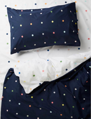 more than ever spots and dots fitted sheet | The Home Maven