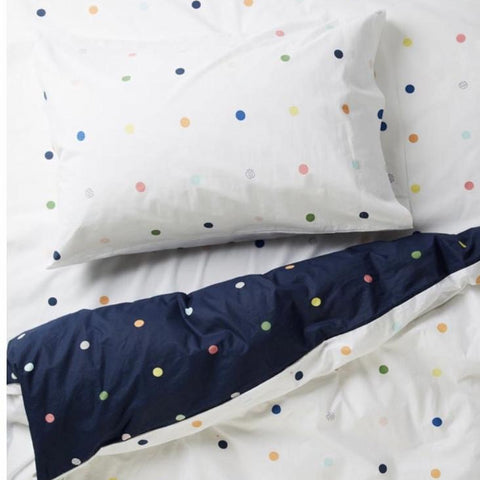 more than ever white spots and dots pillowcase | The Home Maven