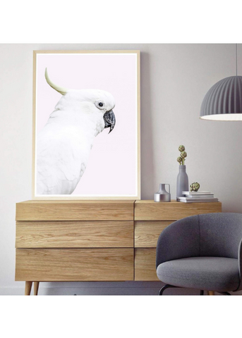 White cockatoo photographic print |Various sizes | The Home Maven