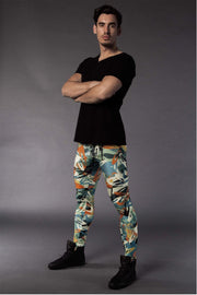 Männer Leggings im Graffiti-Design