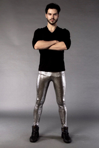 Jake The Snake silber metallic Männer Leggings
