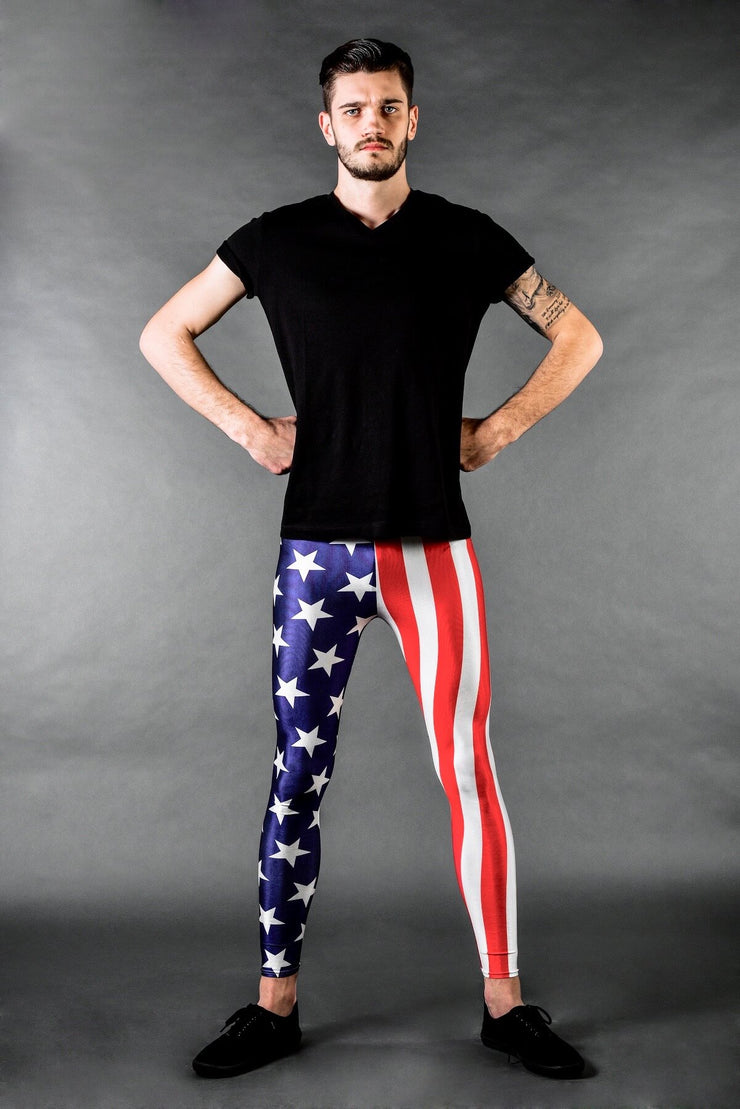 Stars & Stripes USA Flaggen Männer Leggings