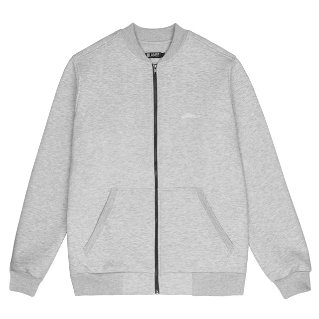 Lanee Clothing Streetwear FULL-ZIP GRAY CREWNECK 21