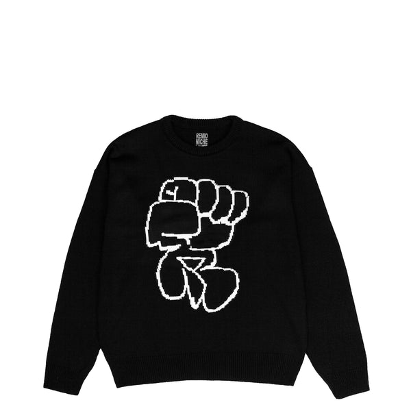 Lanee Clothing Streetwear REMIO BLACK KNIT SWEATER