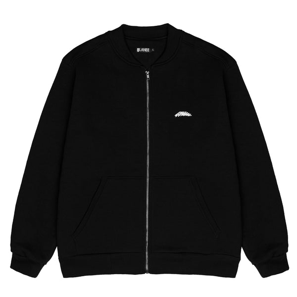 Lanee Clothing Streetwear FULL-ZIP BLACK CREWNECK 21