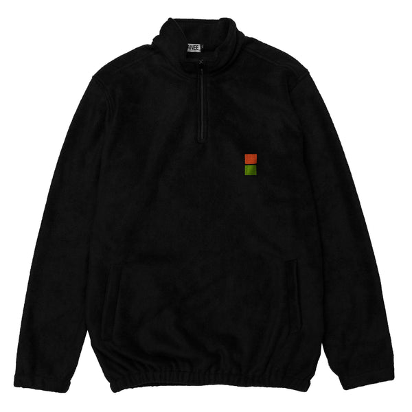 Lanee Clothing Streetwear LANEE X JAMER BLACK HALF-ZIP FLEECE 21