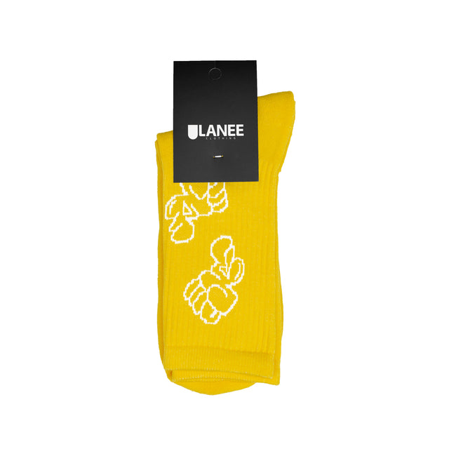 Lanee Clothing Streetwear REMIO YELLOW SOCKS