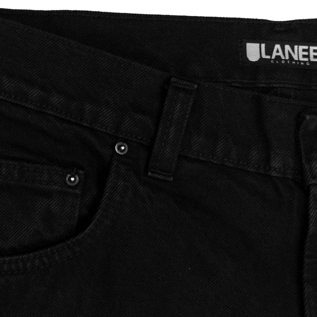 Lanee Clothing Streetwear BLACK JEANS 21