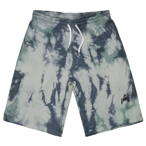 Lanee Clothing Streetwear BLUE/GREEN SWEATSHORTS
