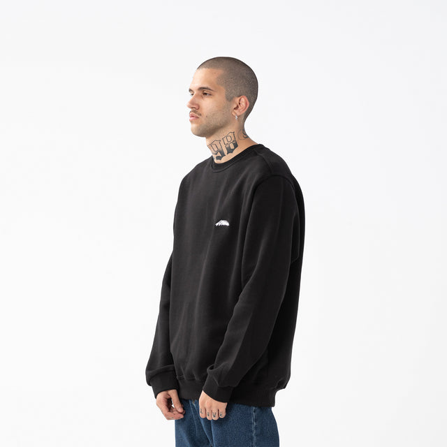 Lanee Clothing Streetwear MARK BLACK CREWNECK EMBR. 21