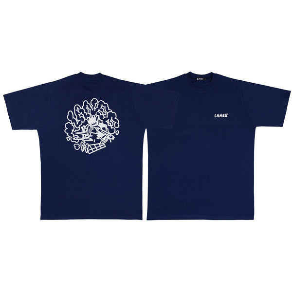 Lanee Clothing Streetwear META-WRITER D.BLUE