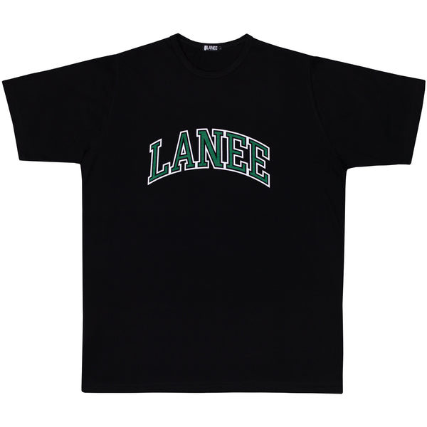 Lanee Clothing Streetwear COLLEGE BLACK TEE