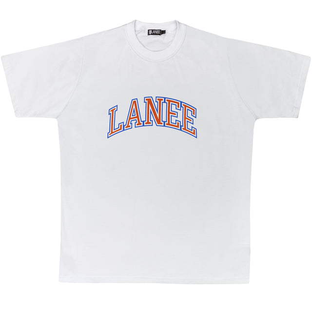 Lanee Clothing Streetwear COLLEGE WHITE TEE