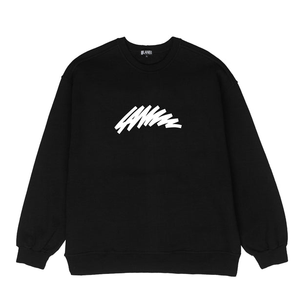 Lanee Clothing Streetwear MARK BLACK CREWNECK LOOSE-FIT 21