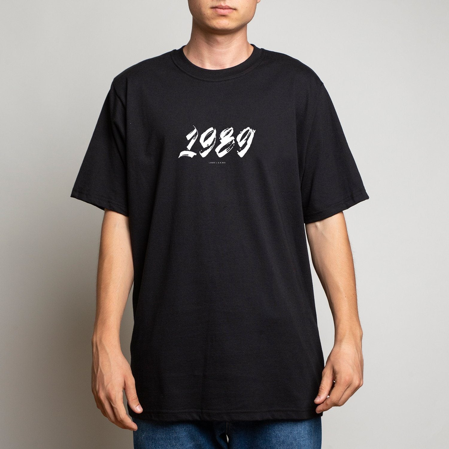 LANEE X Q.B.MIX 1989 BLACK TSHIRT