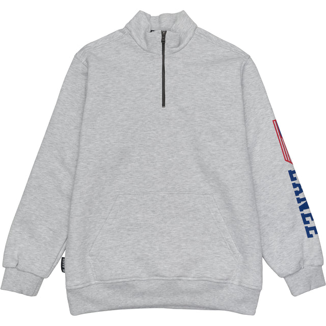 Lanee Clothing Streetwear GRAY HALF ZIP LANEE SWEATER