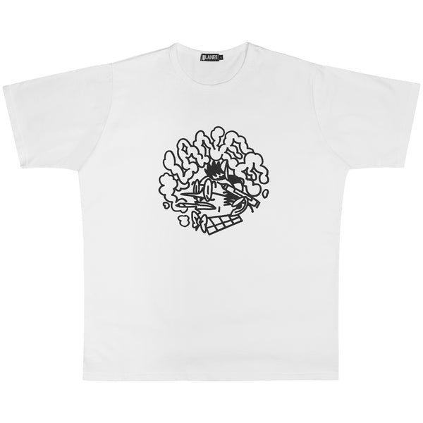 Lanee Clothing Streetwear META-WRITER WHITE