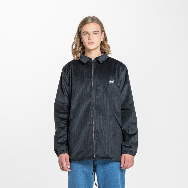 Lanee Clothing Streetwear BLACK CORDUROY JACKET 21