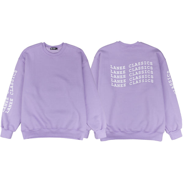 Lanee Clothing Streetwear LOOSE FIT PURPLE LANEE CLASSICS CREWNECK