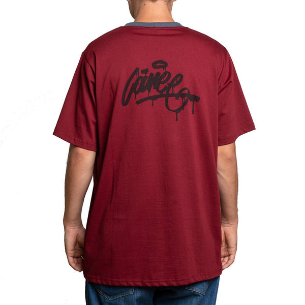 T-SHIRT - DROP MAROON TEE