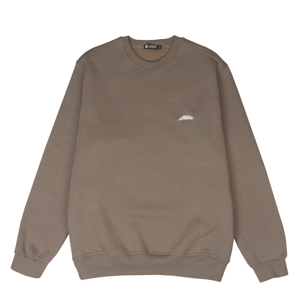 Lanee Clothing Streetwear BROWN CREWNECK 21