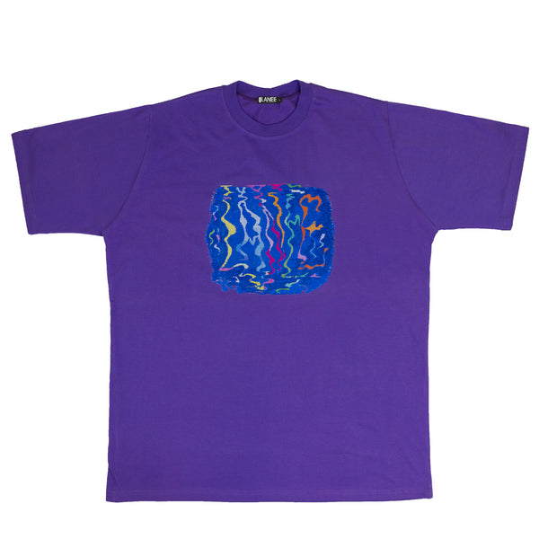 Lanee Clothing Streetwear LANEE X JAMER PURPLE TEE 21