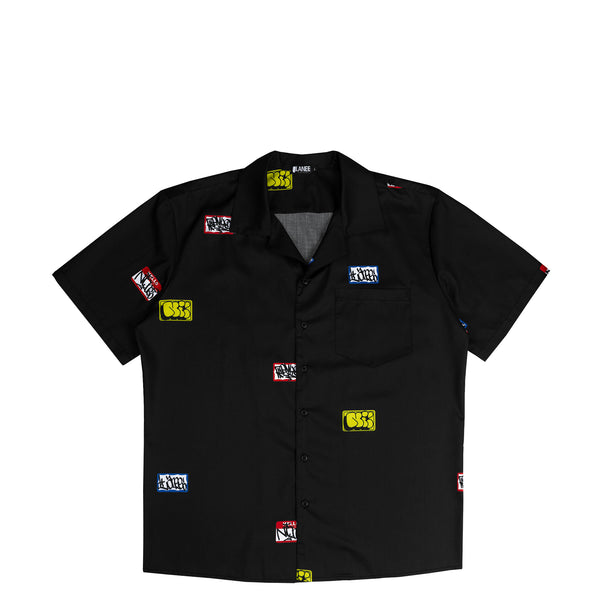 Lanee Clothing Streetwear RxNxL BLACK SHORTSLEEVE SHIRT