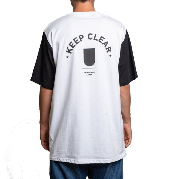 T-SHIRT - KEEP CLEAR BLACK-WHITE TEE