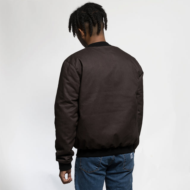 Lanee Clothing Streetwear BROWN/BLACK BOMBER JACKET 2020