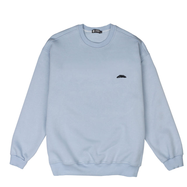 Lanee Clothing Streetwear LIGHT BLUE CREWNECK LOOSE-FIT 21