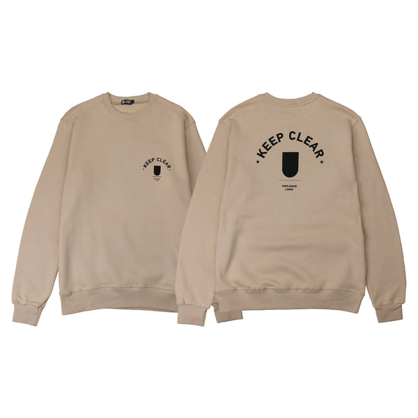 KEEP CLEAR BEIGE CREWNECK 18