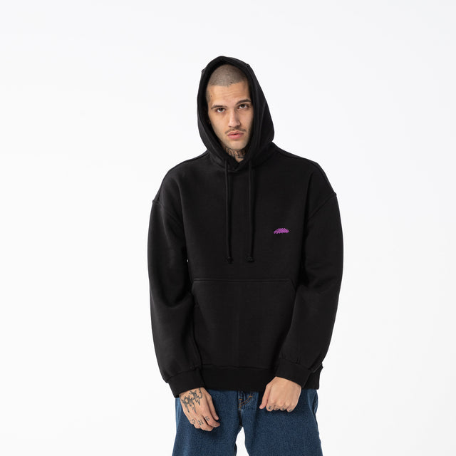 Lanee Clothing Streetwear BLACK HOODIE LOOSE-FIT 21