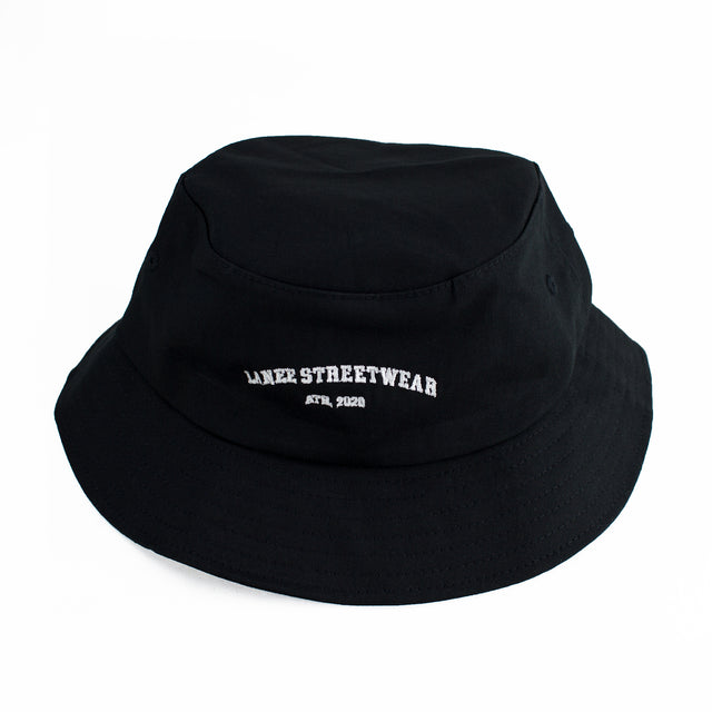 Lanee Clothing Streetwear BLACK BUCKET HAT