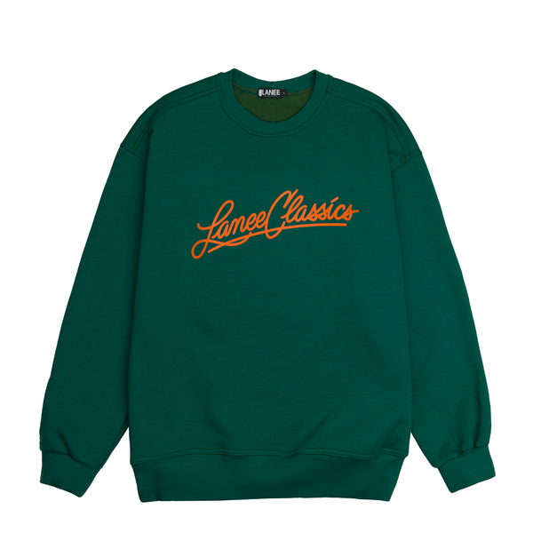 Lanee Clothing Streetwear LANEE CLASSICS GREEN CREWNECK LOOSE-FIT 21