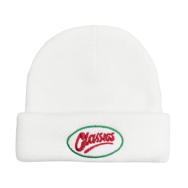 Lanee Clothing Streetwear WHITE OVAL BEANIE
