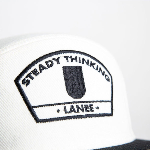 STEADY THINKING WHITE 6-PANEL SNAPBACK HAT