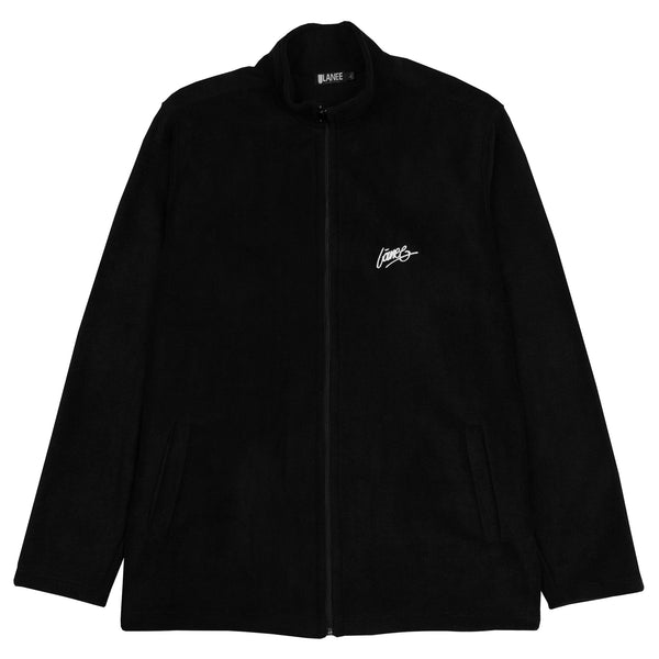 Lanee Clothing Streetwear BLACK FULL-ZIP FLEECE