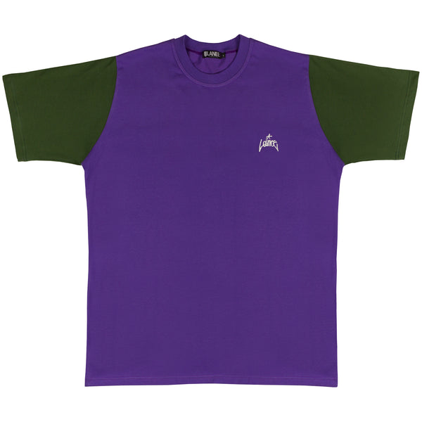 Lanee Clothing Streetwear PURPLE/GREEN WW TEE
